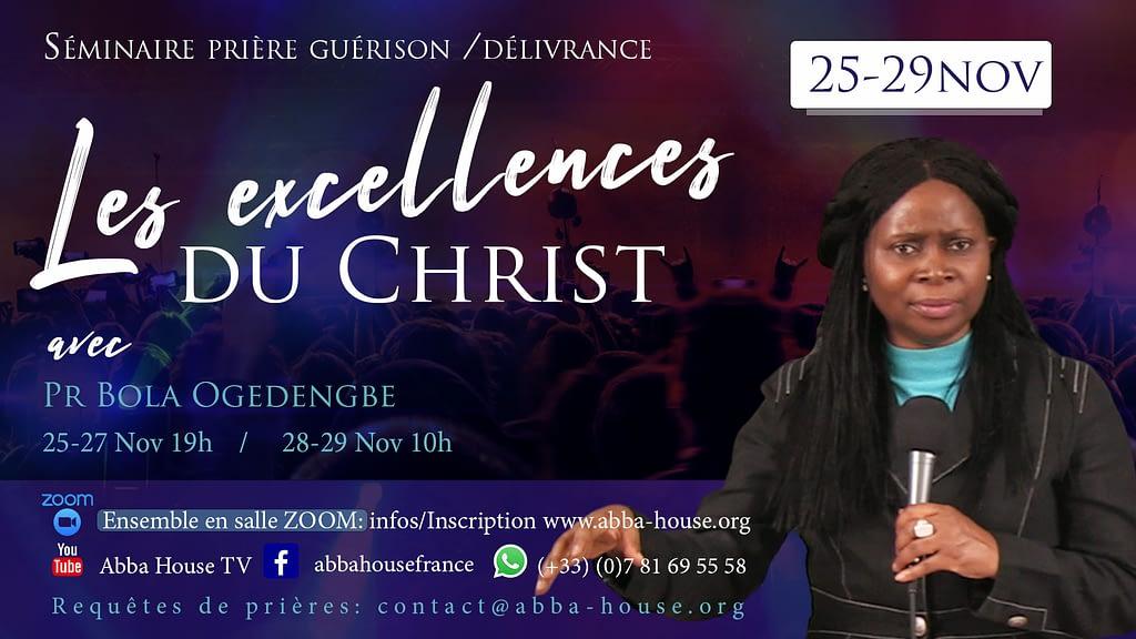 séminaire les excellences du Christ